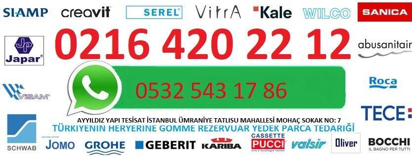 GÖMME REZERVUAR YEDEK PARCA SERVİSİ 0216 420 22 12